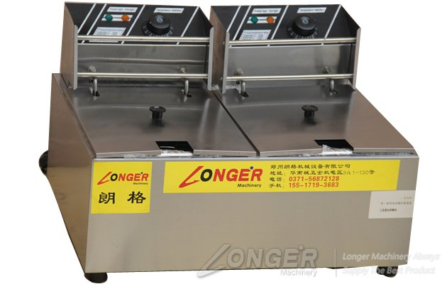 Hot Selling Double Tank Double Baskets Chicken Leg Frying Machine
