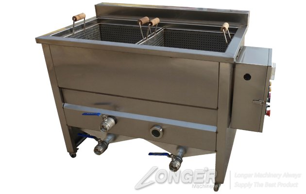 <b>Double Tanks Commercial Coated Peanut Fryer Machine</b>