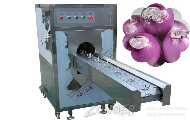 onion root cutting machine picture