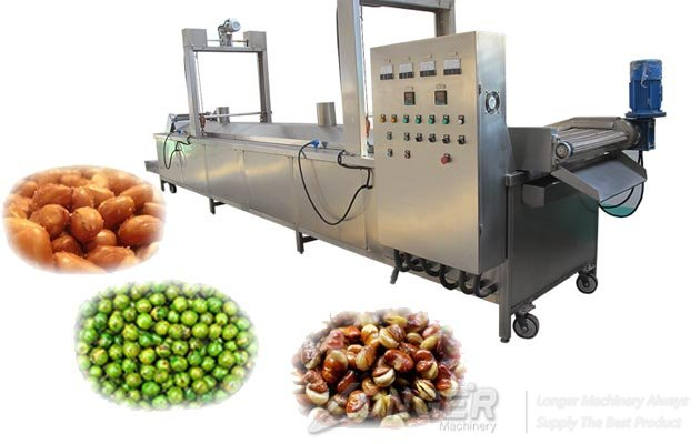 belt type beans fryer machine