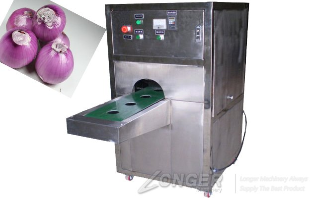 Advanced Automatic Onion Root Cutting Machine
