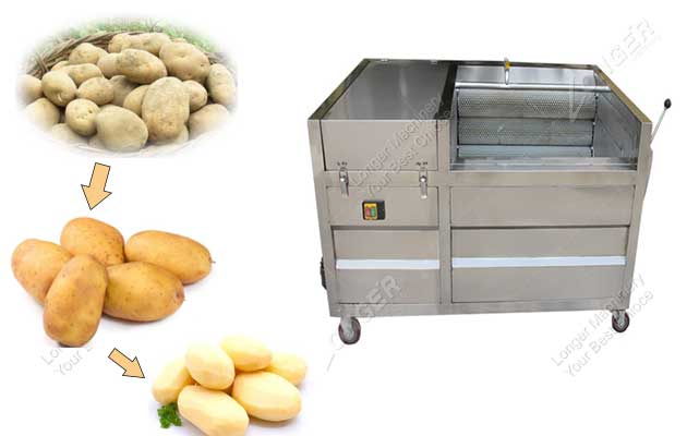 <b>Small Capacity Fruit Vegetable Washing and Peeling Machine</b>