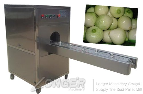 Advanced Automatic Onion Root Remover|Fresh Onion Root Cutting Machine