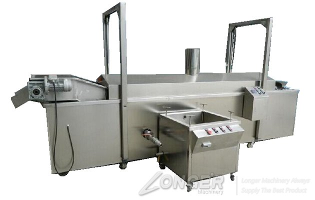 <b>Gas Heating Continuous Belt Type Nuts Frying Machine with Oil Filtering Function</b>