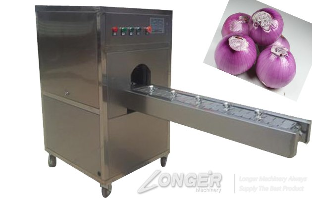 commercial onion root cutting machine