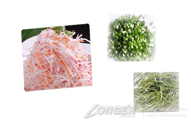 cutting effect of the vegetable cutting machine