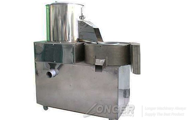 potato washing and cutting machine