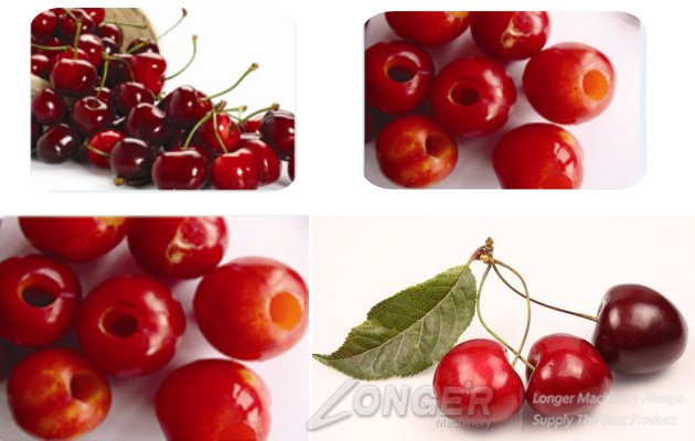 cherry pitting machine effect