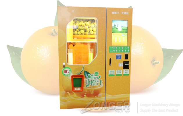 vending machine for fresh orange juice