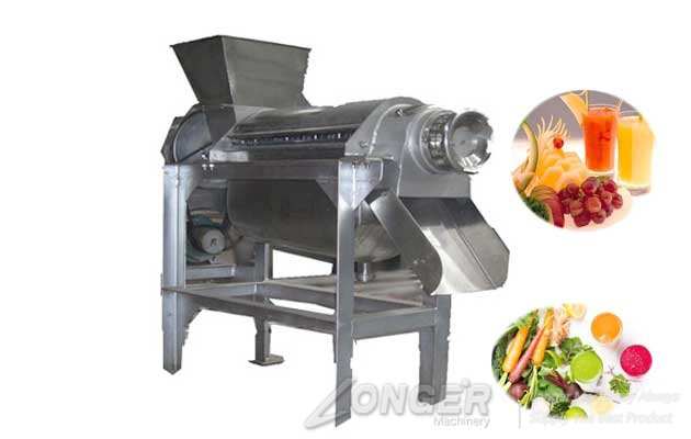 high efficient sprial fruit juice extracting machine