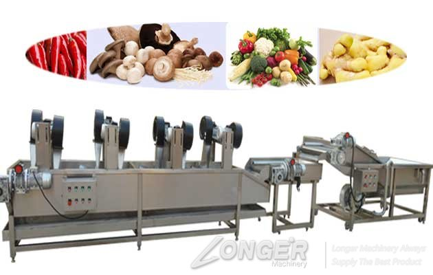vegetable washing and air dryig line