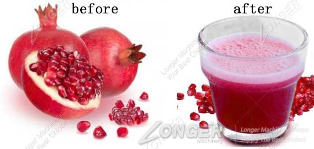 pomegranate pulping effect