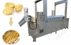 100-300KG Per Hour Electric Heating Continuous Fryer Machine
