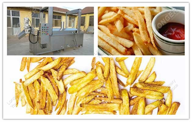 finger chips frying machine