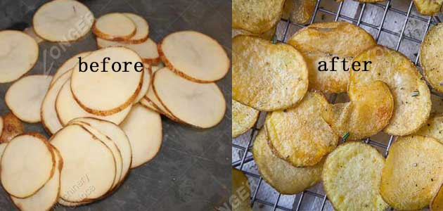 potato chips frying effect