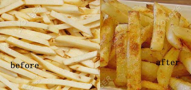 french fries frying effect