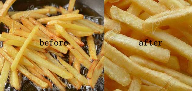 french fries drying effect