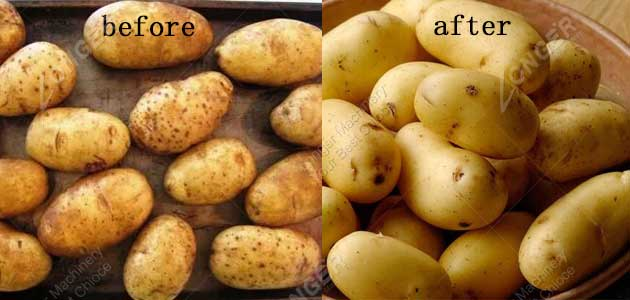 potato drying effect