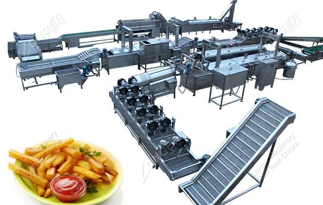 french fries production line for sale