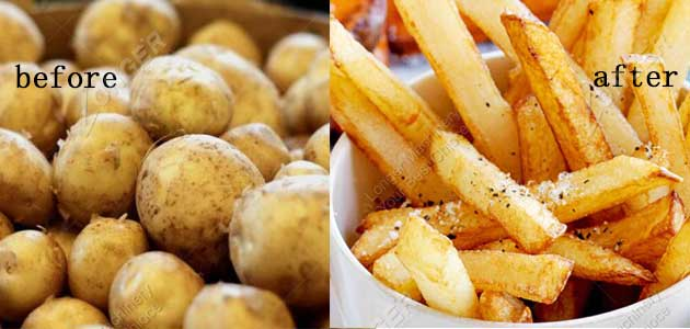potato and french fries
