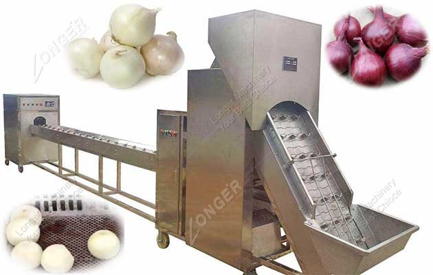 High Production Onion Processing Machine Line