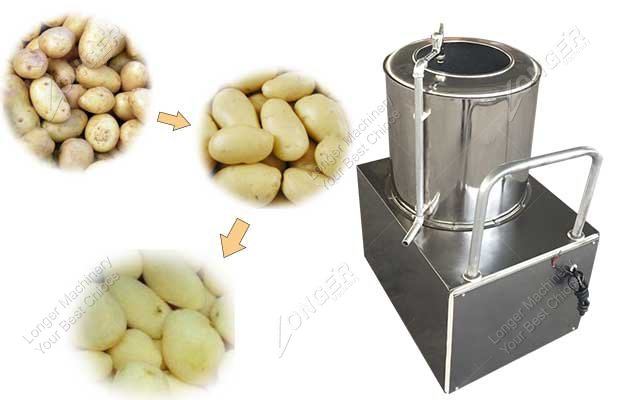 commercial potato washing and peeling machine