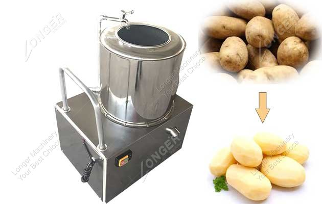 industrial potato washer and peeler machine