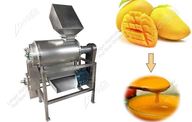 mango fruit pulping machine
