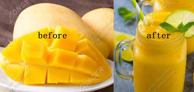 mango pulping effect