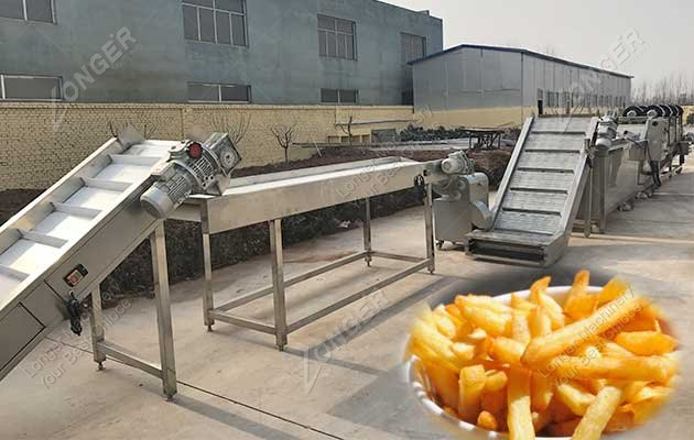french fries processing line
