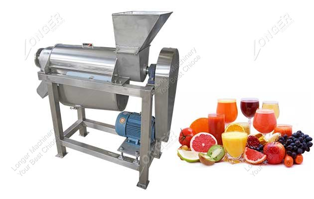 Spiral Fruit Juice Crusher and Extractor Machine