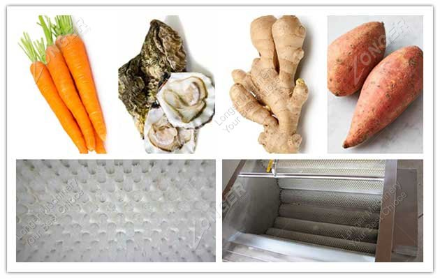 vegetable washing and peeling machine picture