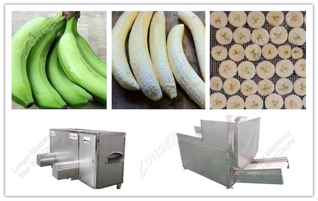 banana peeling and cutting machine line