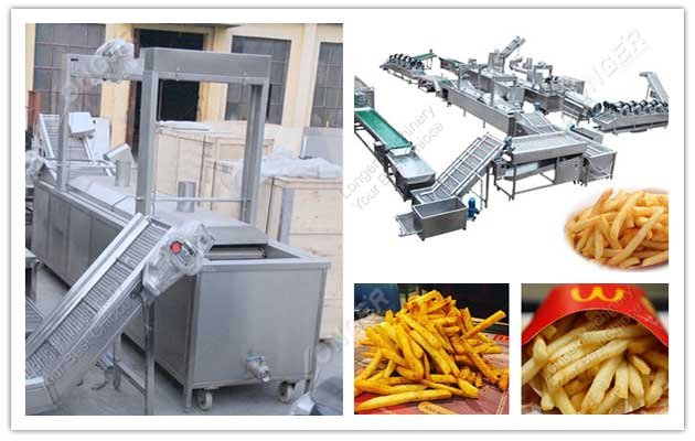 french fries production line image